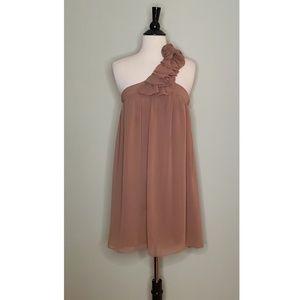 Alythea One Shoulder Chiffon Dress